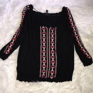 INC Embroidered Top